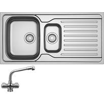 Franke Antea 1 1/2 Bowl 651 Sink & Drainer With Danube Mono Mixer Tap
