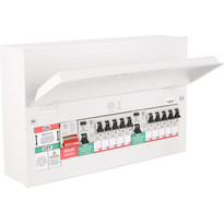 MK Metal 17th Edition Amendment 3 High Integrity Dual RCD + 10 MCBs Consumer Unit