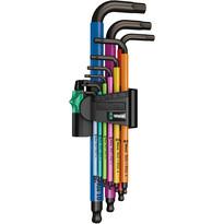 Wera Ball End Multi Colour Hex Key Set