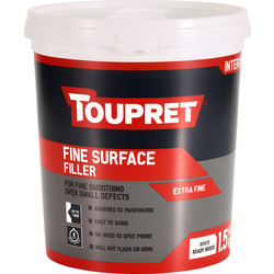 Toupret Toupret Ready Mixed Fine Surface Filler 1.5kg - 10135 - from Toolstation