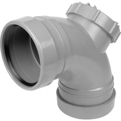 Aquaflow Access Bend 110mm 92.5° Grey - 10262 - from Toolstation