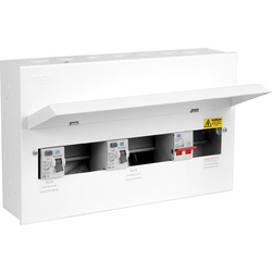 Axiom Axiom Metal 17th Edition Amendment 3 Dual RCD Consumer Unit 12 Way - 10330 - from Toolstation