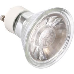 LED Glass GU10 5W COB Lamp