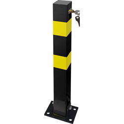 Heavy Duty Folding Parking Post (H) 700 x (W) 70 x (D) 70mm - 10361 - from Toolstation