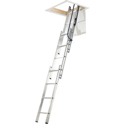 Werner Werner 3 Section Easystow Loft Ladder & Handrail  - 10383 - from Toolstation