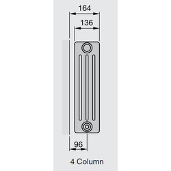 Arlberg 4-Column Horizontal Radiator