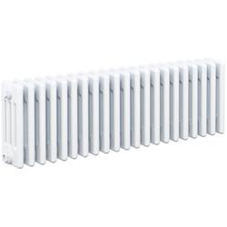 Arlberg Arlberg 4-Column Horizontal Radiator 300 x 992mm 3003Btu White - 10476 - from Toolstation