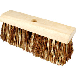 "Hill Brush Company Stiff Flat Top Broom Bassine 13"" (330mm) - 10500 - from Toolstation"