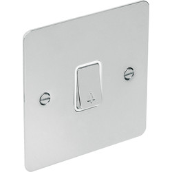 Flat Plate Polished Chrome 10A Switch Bell Push - 10526 - from Toolstation