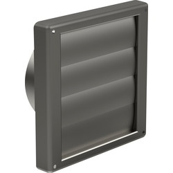 Verplas Stainless Steel Wall Outlet Gravity Flaps 100mm - 10563 - from Toolstation