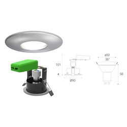 4lite WiZ Connected 4.9W LED Smart WiFi Bluetooth IP65 Fire Rated Downlight