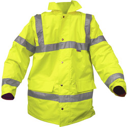 Hi Vis Highway Jacket Yellow X Large - 10749 - from Toolstation