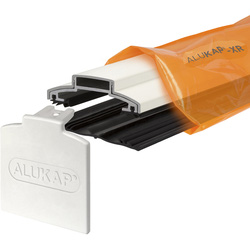 Alukap Alukap-XR 60mm Concealed Fix Glazing Bar with Gasket White 3000mm - 10771 - from Toolstation