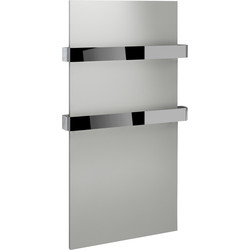 Kudox Kudox Ikon Designer White & Chrome Towel Radiator 917 x 508mm 1245Btu - 10800 - from Toolstation