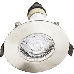 Integral LED Evofire IP65 Fire Rated Downlight Satin Nickel