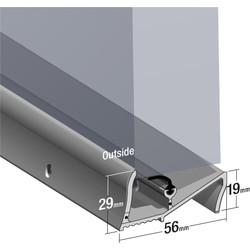 Stormguard Stormguard Lowline Rain & Draught Excluder Threshold Aluminium - 11081 - from Toolstation