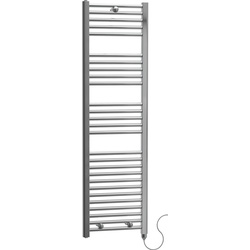 Cassellie Leighton Straight Electric Designer Radiator 1375 x 480mm Chrome 1706Btu - 11135 - from Toolstation