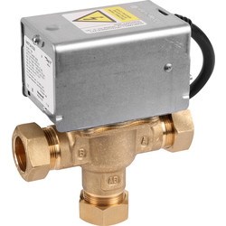 Honeywell Home Honeywell Home 3 Port Mid Position Valve 22mm - 11253 - from Toolstation