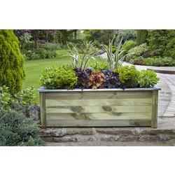 Forest Forest Garden Cambridge Planter 50cm (h) x 150cm (w) x 50cm (d) - 11264 - from Toolstation