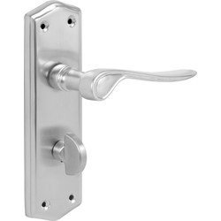 Salvesen Door Handles Bathroom Satin