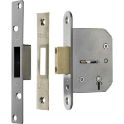 ERA Viscount 5 Lever Mortice Deadlock 76mm Chrome - 11308 - from Toolstation