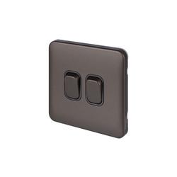 Schneider Electric Lisse Mocha Bronze Screwless 10AX Switch
