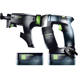 Festool Festool DWC 18-2500 18V Cordless Drywall Screwgun 2 x 5.2Ah - 11398 - from Toolstation