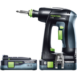 Festool Festool 18V Li-Ion C 18 Cordless Drill Driver 2 x 4.0Ah - 11479 - from Toolstation
