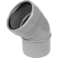 Aquaflow Bend 110mm 135° Socket / Spigot Grey - 11498 - from Toolstation
