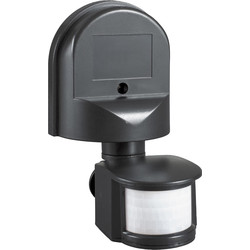 Zinc 180° PIR Sensor IP44 Black - 11555 - from Toolstation