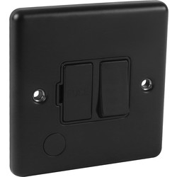 Wessex Electrical Wessex Matt Black Fused Spur 13A Black Switched - 11672 - from Toolstation