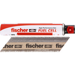 Fischer Fischer Galvanised Nail & Gas Fuel Pack 3.1 x 90mm Smooth - 11722 - from Toolstation
