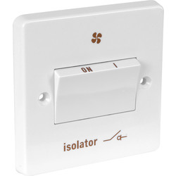 Crabtree Crabtree 6A Fan Isolator 3 Pole - 11750 - from Toolstation