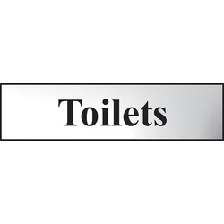 Centurion Chrome Effect Door Sign Toilets - 11769 - from Toolstation