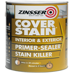 Zinsser Zinsser Cover Stain Primer Paint White 2.5L - 11898 - from Toolstation