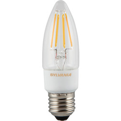 Sylvania Sylvania LED Filament Effect Dimmable Candle Lamp 4.5W ES 470lm A++ - 11910 - from Toolstation