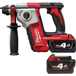 Milwaukee Milwaukee M18BH-40 18V Li-Ion Cordless 2 Mode SDS Plus Rotary Hammer Drill 2 x 4.0Ah - 12000 - from Toolstation