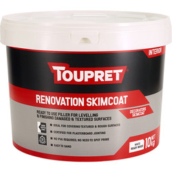 Toupret Toupret Ready Mixed Decorators Skimcoat Filler 10kg - 12011 - from Toolstation
