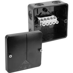 Moulded PVC Box IP65 93 x 93 x 55mm Black - 12060 - from Toolstation