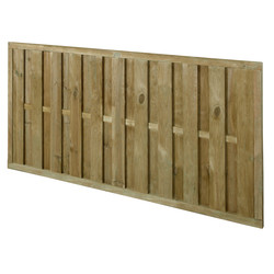 Forest Garden Pressure Treated Vertical Hit & Miss Fence Panel - 4 Pack