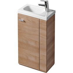 Ideal Standard Ideal Standard Senses Space Basin & Unit Right Hand American Oak - 12139 - from Toolstation
