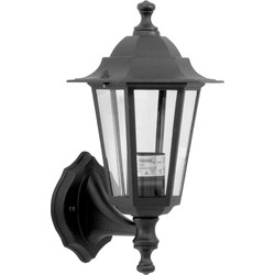 Meridian Lighting Victorian Style Lantern IP33 Black 60W ES - 12199 - from Toolstation