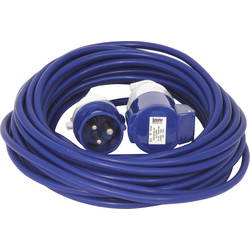 Blue Extension Lead 16A 230V 14m - 12236 - from Toolstation