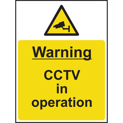 Hazard Safety Sign Warning CCTV In Operation 148x210 - 12265 - from Toolstation