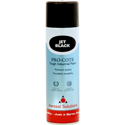 Industrial Spray Paint 500ml Jet Black - 12268 - from Toolstation
