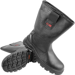 Blackrock Safety Rigger Boots Size 9 Black - 12328 - from Toolstation