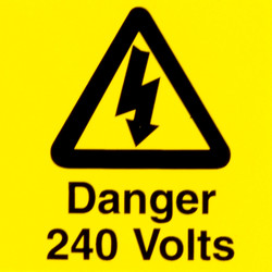CED Electrical Warning Signs Danger 240 Volts - 12338 - from Toolstation