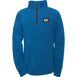 CAT Caterpillar Half Zip Micro Fleece Medium Blue - 12383 - from Toolstation