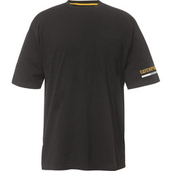 CAT Caterpillar T-Shirt Medium Black - 12511 - from Toolstation