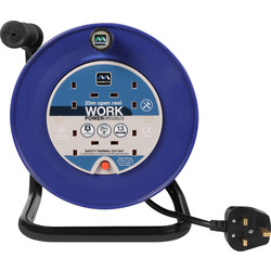 Masterplug Masterplug 4 Socket 13A Open Cable Reel 25m 240V - 12582 - from Toolstation